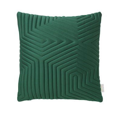 coussin linear memory 45 x 45 cm m moire de forme tissu 3d vert nomess. Black Bedroom Furniture Sets. Home Design Ideas