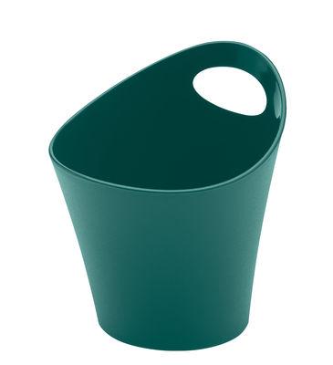 Pot Pottichelli XS / Ø 15 x H 9 cm - Koziol vert sapin en matière plastique
