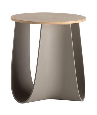 Tabouret Sag / Table H 43 cm - Assise bambou - MDF Italia bambou,taupe en matière plastique