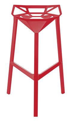 Tabouret de bar Stool One / H 77 cm - Métal - Magis rouge en métal