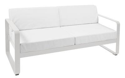 Canapé droit Bellevie 2 places L 160 cm Tissu blanc Fermob blanc,gris métal en métal