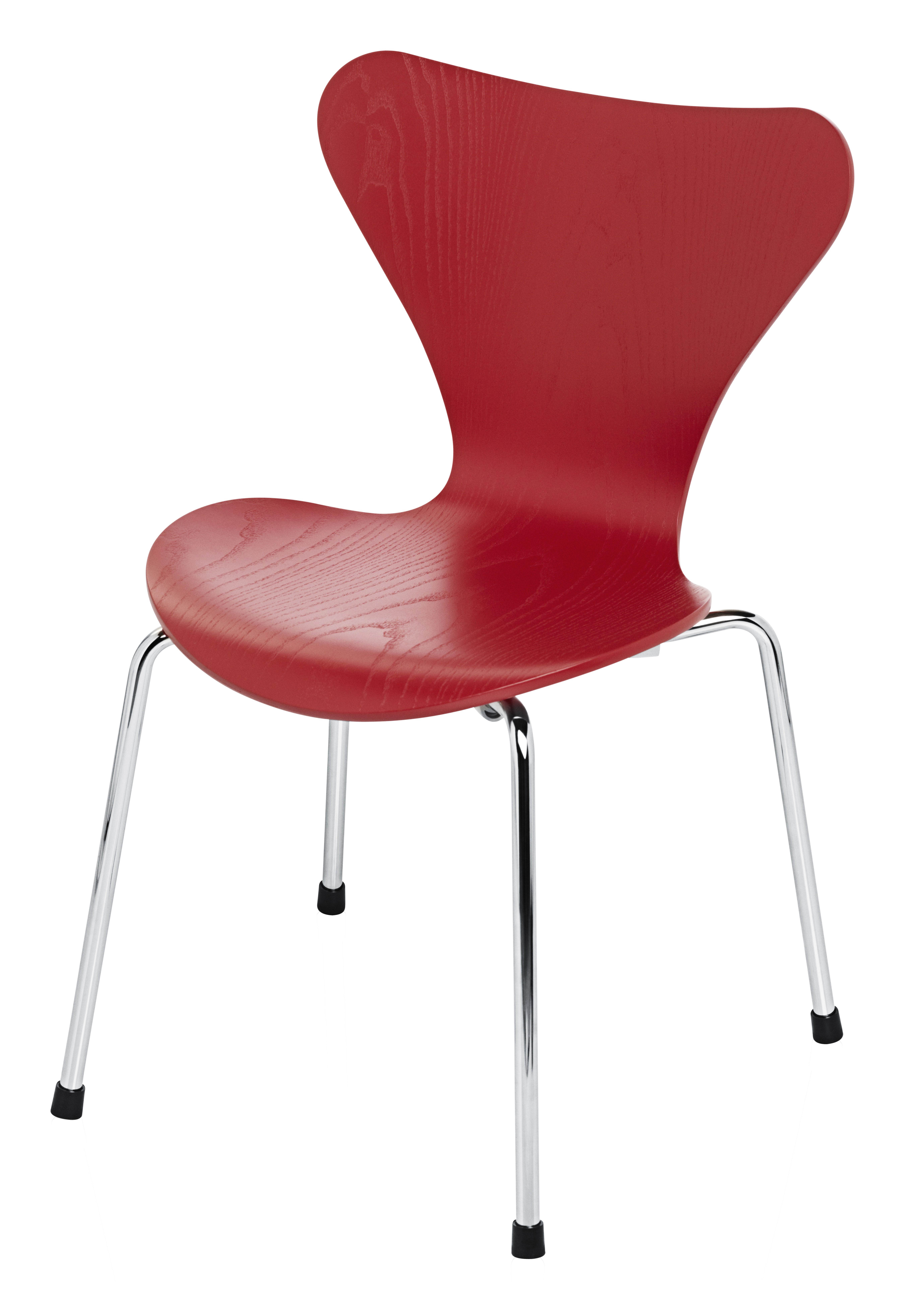 chaise enfant s rie 7 fr ne teint rouge fritz hansen. Black Bedroom Furniture Sets. Home Design Ideas