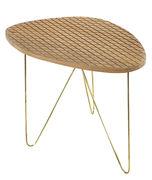 Tavolino basso End / H 45 cm - Serax - Legno naturale,Metallo - Legno