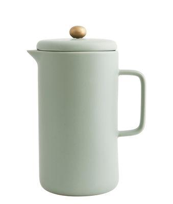 Cafetière à piston Pot / Porcelaine - 1 L - House Doctor vert d´eau en céramique
