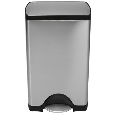 Kitchenware - Bins - Deluxe Rectangular Pedal bin - step can - 38 liters by Simple Human - Steel - 38 liters - Brushed stainless steel