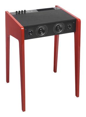 Enceinte Bluetooth LD 120 Pour ordi portable, iPod, iPhone L 57 cm La Boîte Concept rouge en bois