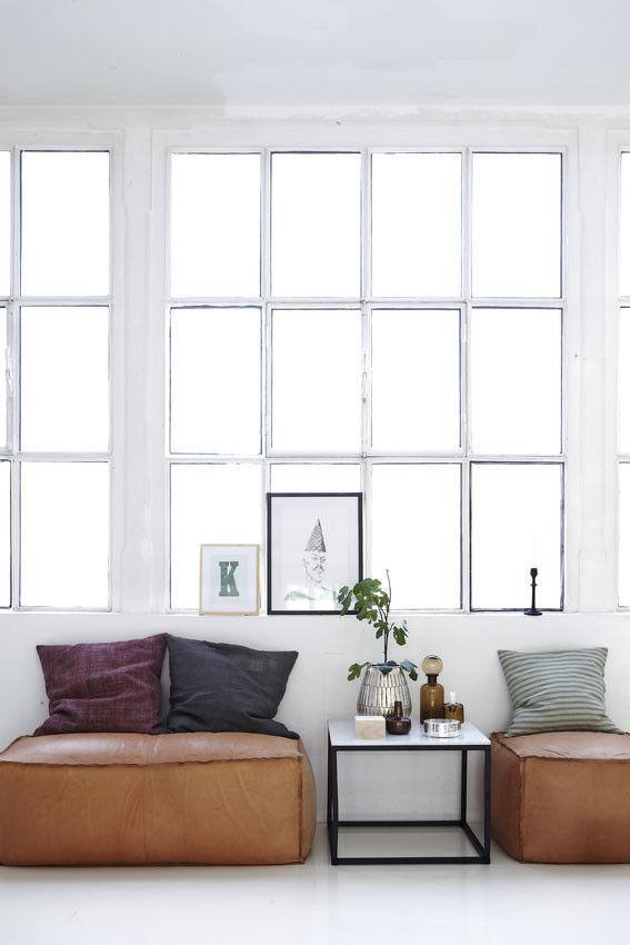 soft brick sitzkissen aus echtem leder 120 x 60 cm leder braun by house doctor made in design. Black Bedroom Furniture Sets. Home Design Ideas