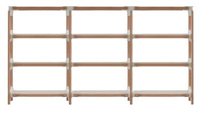 Etagère Steelwood / H 132 cm - Magis blanc,hêtre en métal