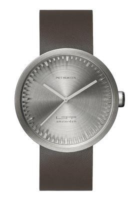 Accessoires - Montres - Montre D42 / Bracelet cuir - LEFF amsterdam - Acier / Bracelet cuir brun - Acier inoxydable 316L brossé, Cuir, Verre