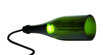 Lampe de table Bouteille Torche / Applique - LED - L´Atelier du Vin vert en verre