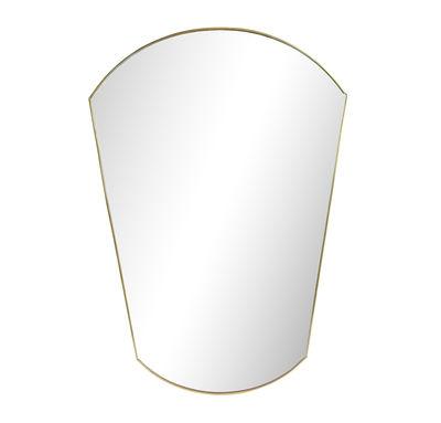 Déco - Miroirs - Miroir mural Gold Oval / L 30 x H 43 cm - & klevering - Oval / Laiton - Métal, Verre