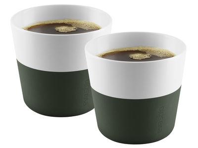 Gobelet Lungo / Set de 2 - 230 ml - Eva Solo vert forêt en céramique