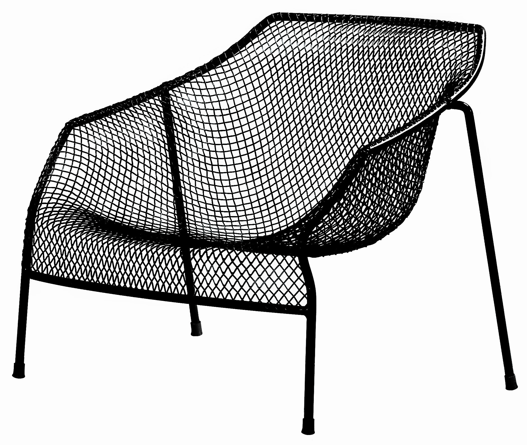 fauteuil bas heaven m tal noir emu. Black Bedroom Furniture Sets. Home Design Ideas