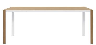 Mobilier - Tables - Table Shadow / 80 x 160 cm - De Padova - Plateau chêne naturel / Dessous blanc - Acier, Stratifié plaqué chêne, Stratifié verni
