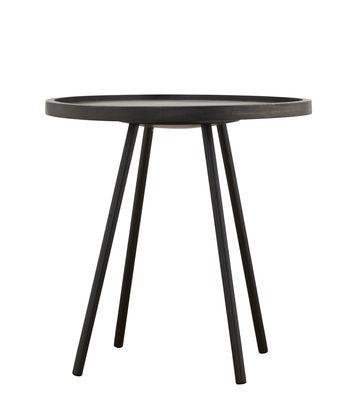 Tavolino basso Juco / Ø 50 x H 50 cm - House Doctor - Nero - Legno