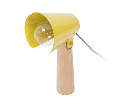 Luminaire - Lampes de table - Lampe de table Sister / H 38 cm - ENOstudio - Jaune moutarde - Acier laqué, Hêtre