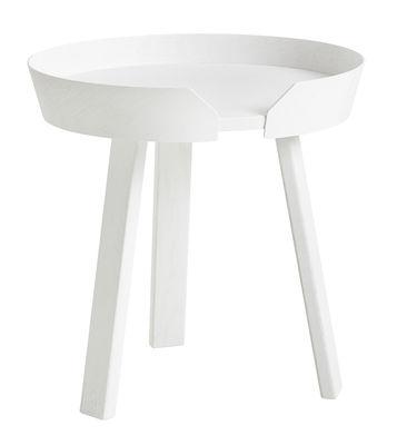Tavolino basso Around Small / Ø 45 x H 46 cm - Muuto - Bianco - Legno