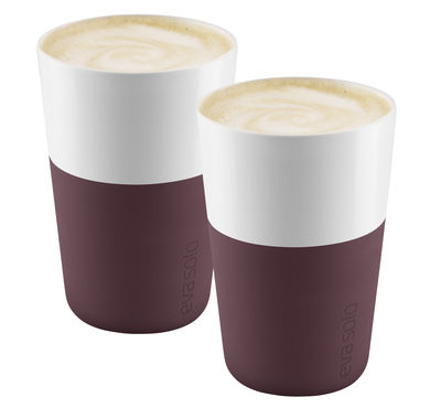 Mug Cafe Latte Set de 2 360 ml Eva Solo bordeaux en céramique