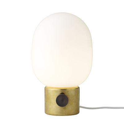 Luminaire - Lampes de table - Lampe de table JWDA / Métal - Menu - Laiton poli / Noir - Laiton, Verre