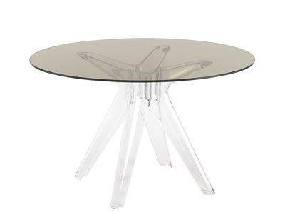 Table Sir Gio / Verre - Ø 120 cm - Kartell transparent,fumé en verre