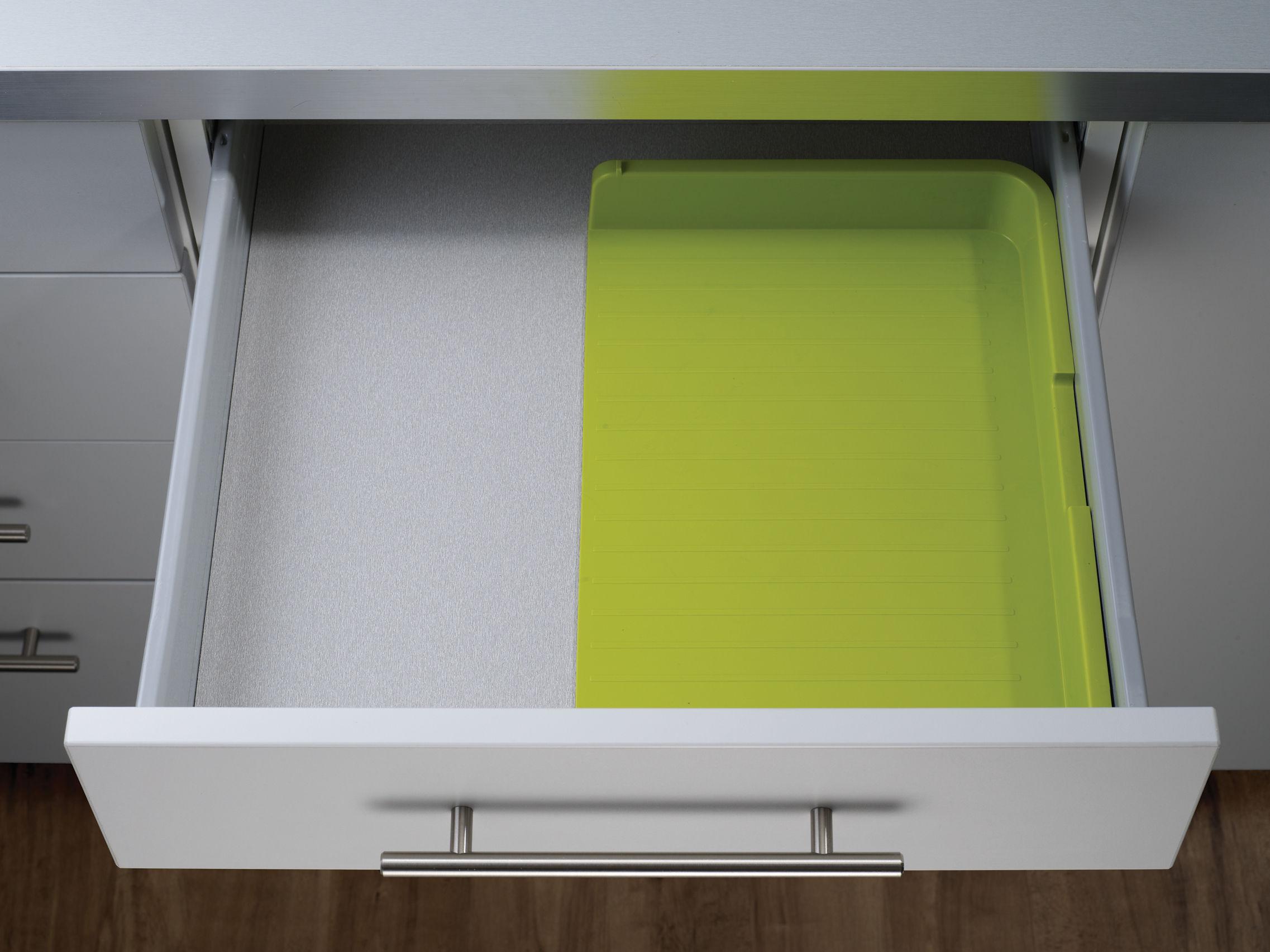 porte couverts drawerstore extensible blanc gris joseph joseph. Black Bedroom Furniture Sets. Home Design Ideas