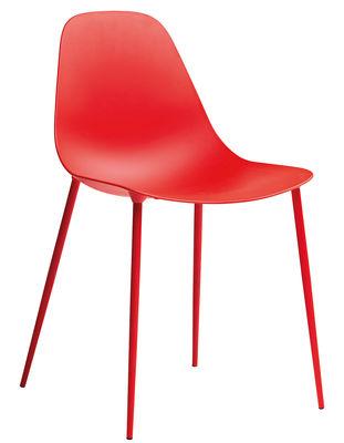 Chaise Mammamia / Coque et pieds métal - Opinion Ciatti rouge en métal