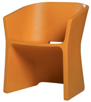Poltrona Sliced Chair di Qui est Paul ? - Arancione - Materiale plastico