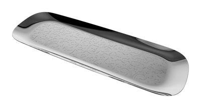 Plateau Dressed long / 62 x 20 cm - Alessi métal brillant en métal