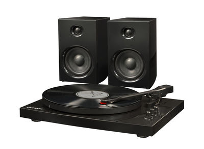 Platine vinyle T 100 Avec enceintes Bluetooth Crosley noir en métal