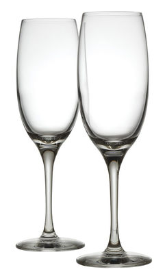 Arts de la table - Verres  - Flûte à champagne Mami XL / Lot de 2 - Alessi - Transparent - Verre cristallin