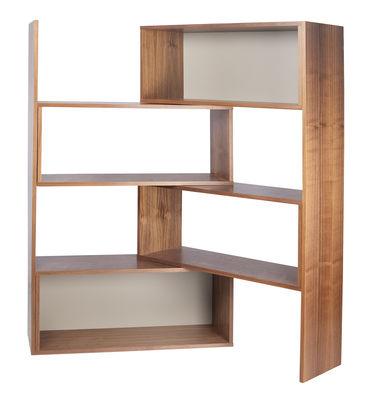 Libreria estensibile Move / Girevole - L 104 a 168 cm - POP UP HOME - Grigio,Noce - Legno