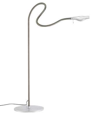 Lighting - Floor lamps - Metall F. Cooper Floor lamp by Ingo Maurer - Grey - Metal, Rubber