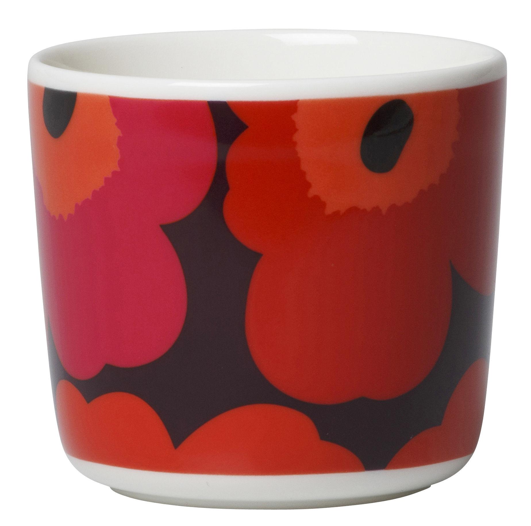 unikko kaffeetasse ohne henkel 2er set unikko rosa orange by marimekko made in design. Black Bedroom Furniture Sets. Home Design Ideas