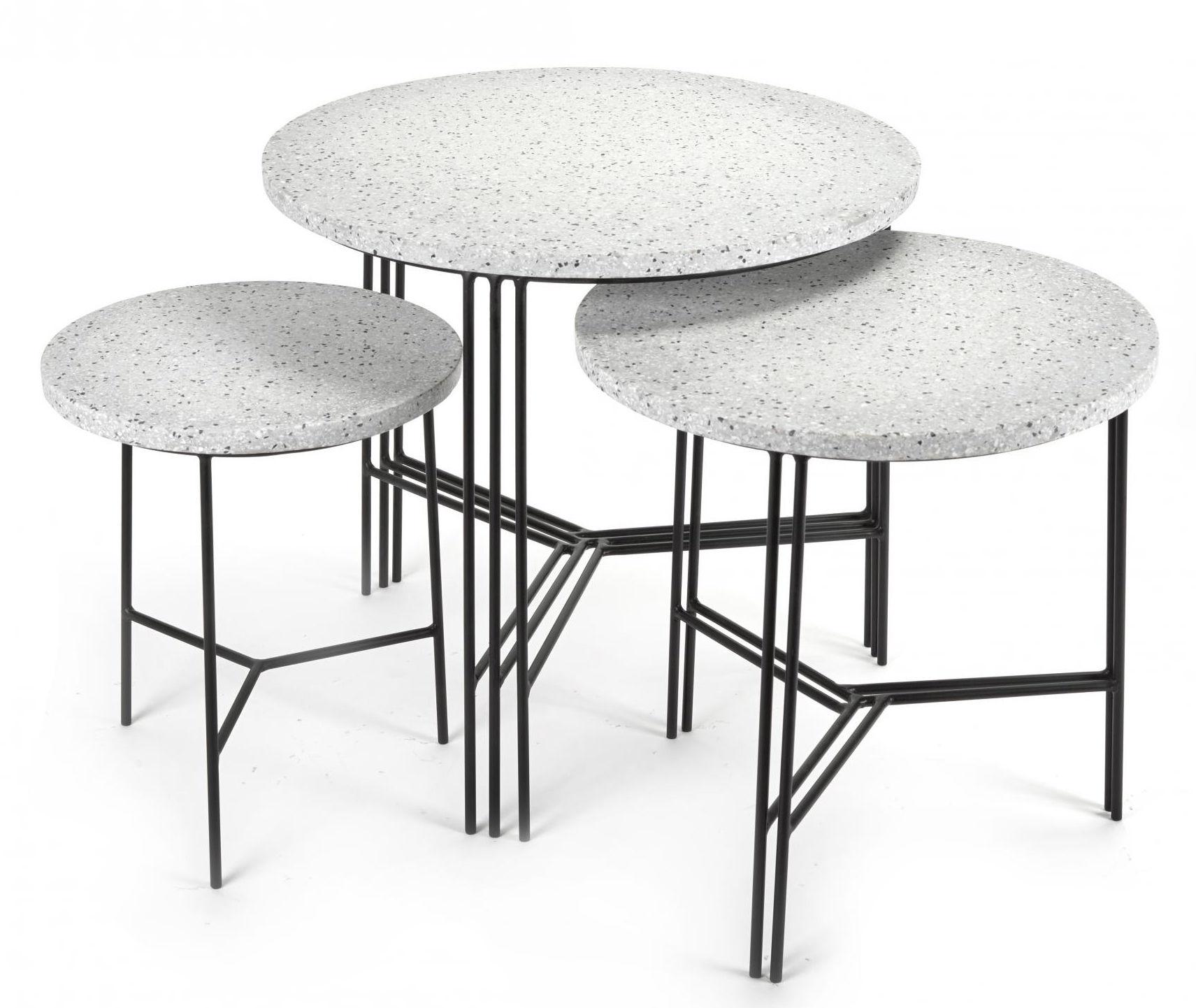 table basse terrazzo 50 x h 45 cm terrazzo gris pied noir serax made in design. Black Bedroom Furniture Sets. Home Design Ideas