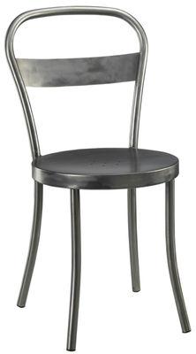 Chaise ds n 1 acier bross acier bross souvignet design - Chaise de bar acier brosse ...