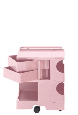 Desserte Boby / H 52 cm - 2 tiroirs - B-LINE rose pâle en matière plastique
