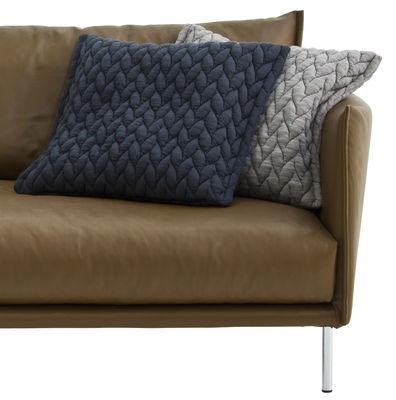 coussin gentry tissu 58 x 52 cm gris fonc moroso. Black Bedroom Furniture Sets. Home Design Ideas