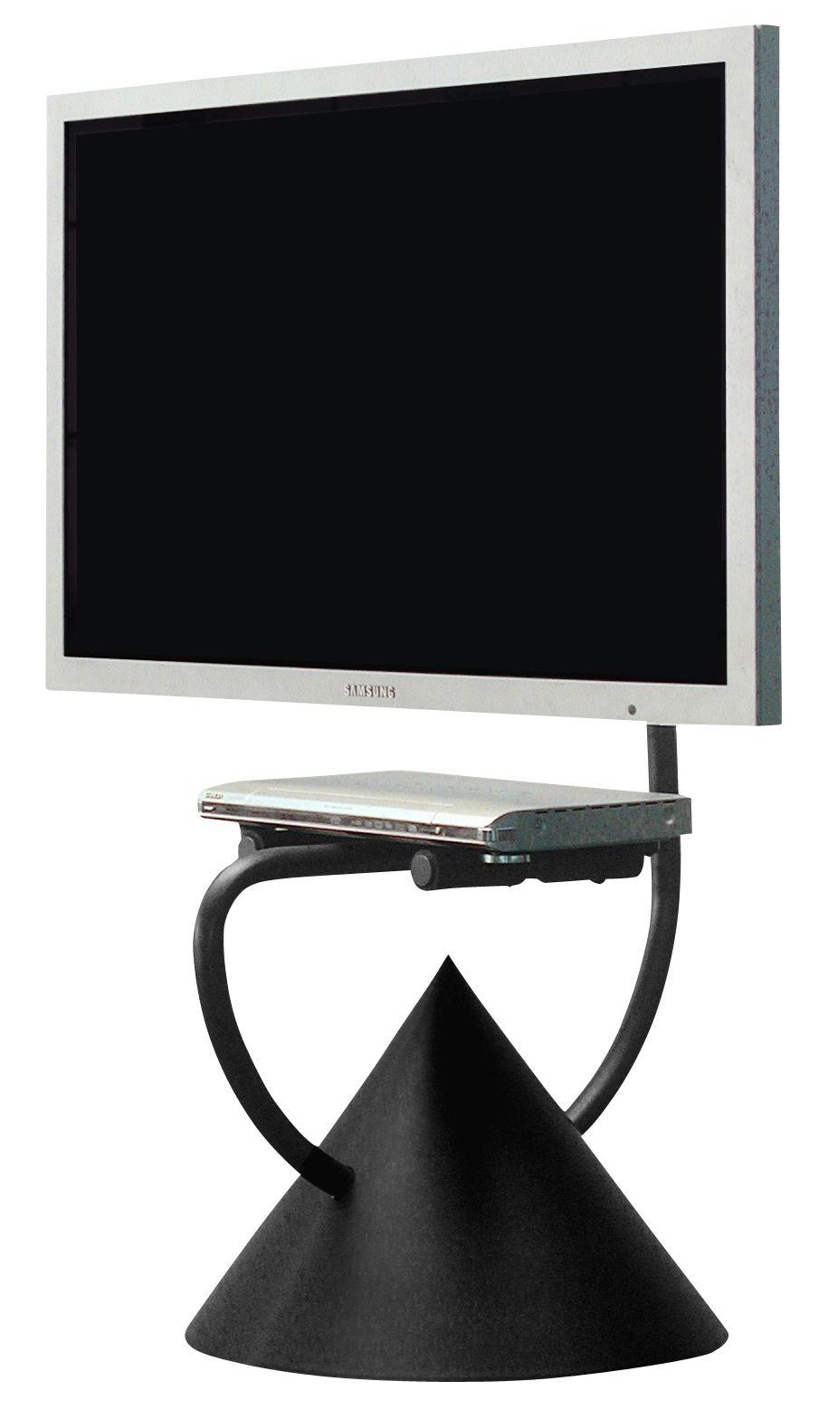 Meuble tv hzps support universel pour cran plat noir - Meuble tv support ecran ...