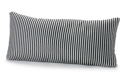 Déco - Coussins - Coussin d'extérieur Fish & Fish / 60 x 30 cm - Serax - Petites rayures / Noir & Blanc - Tissu