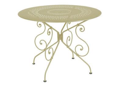 tavolo da giardino 1900 - Ø 96 cm di Fermob - Tiglio - Metallo