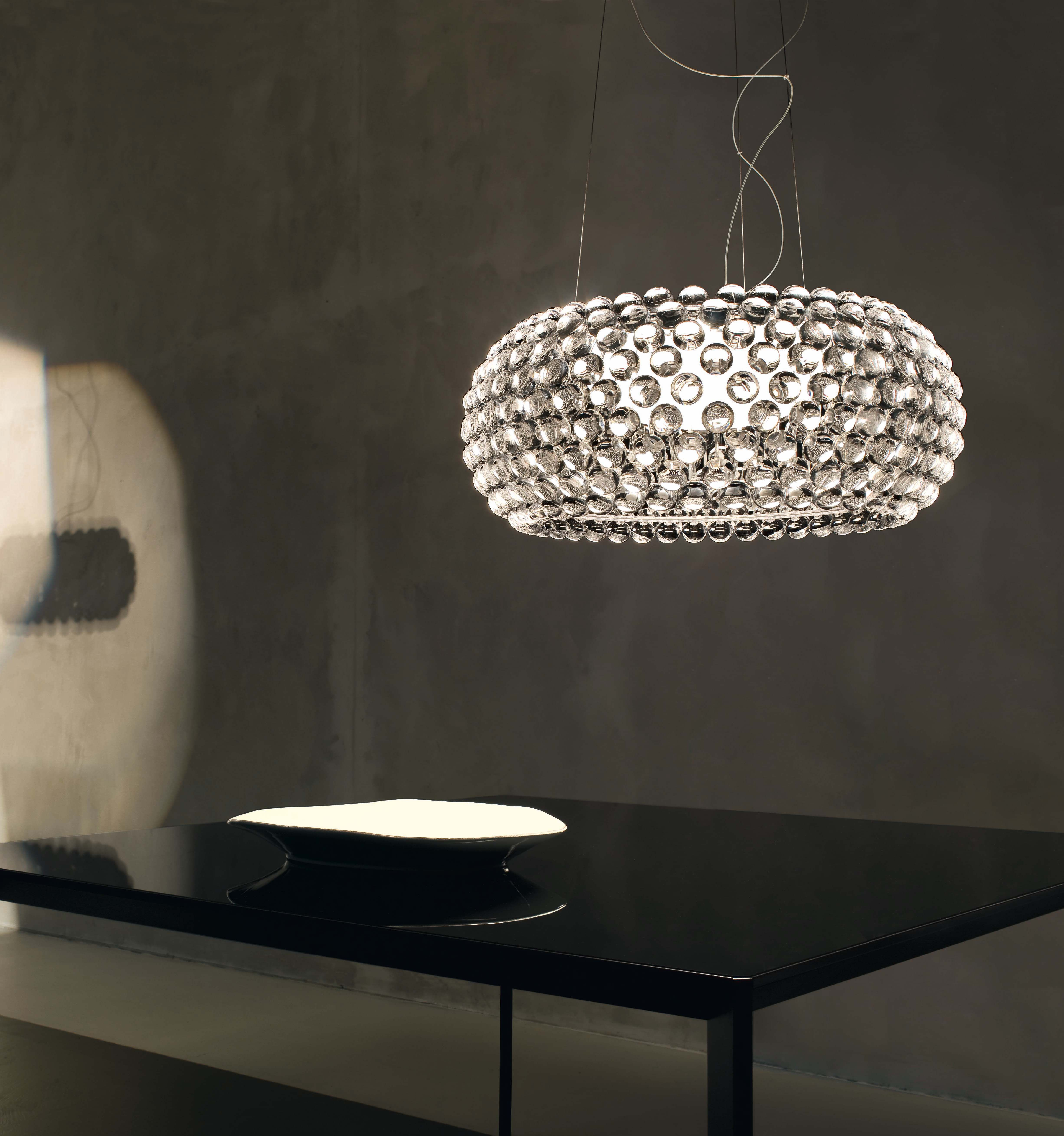 Suspension caboche media 50 cm transparent foscarini - Lampadari cucina design ...