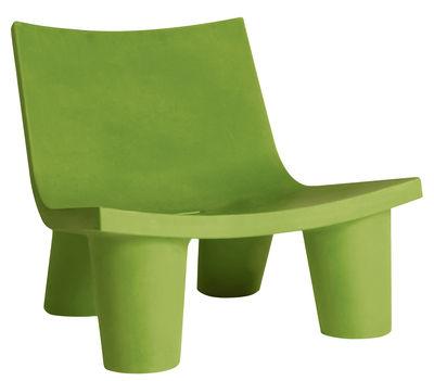 Foto Poltrona bassa Low Lita di Slide - Verde - Materiale plastico