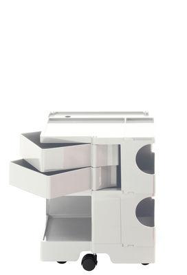 Desserte Boby / H 52 cm - 2 tiroirs - B-LINE blanc en matière plastique