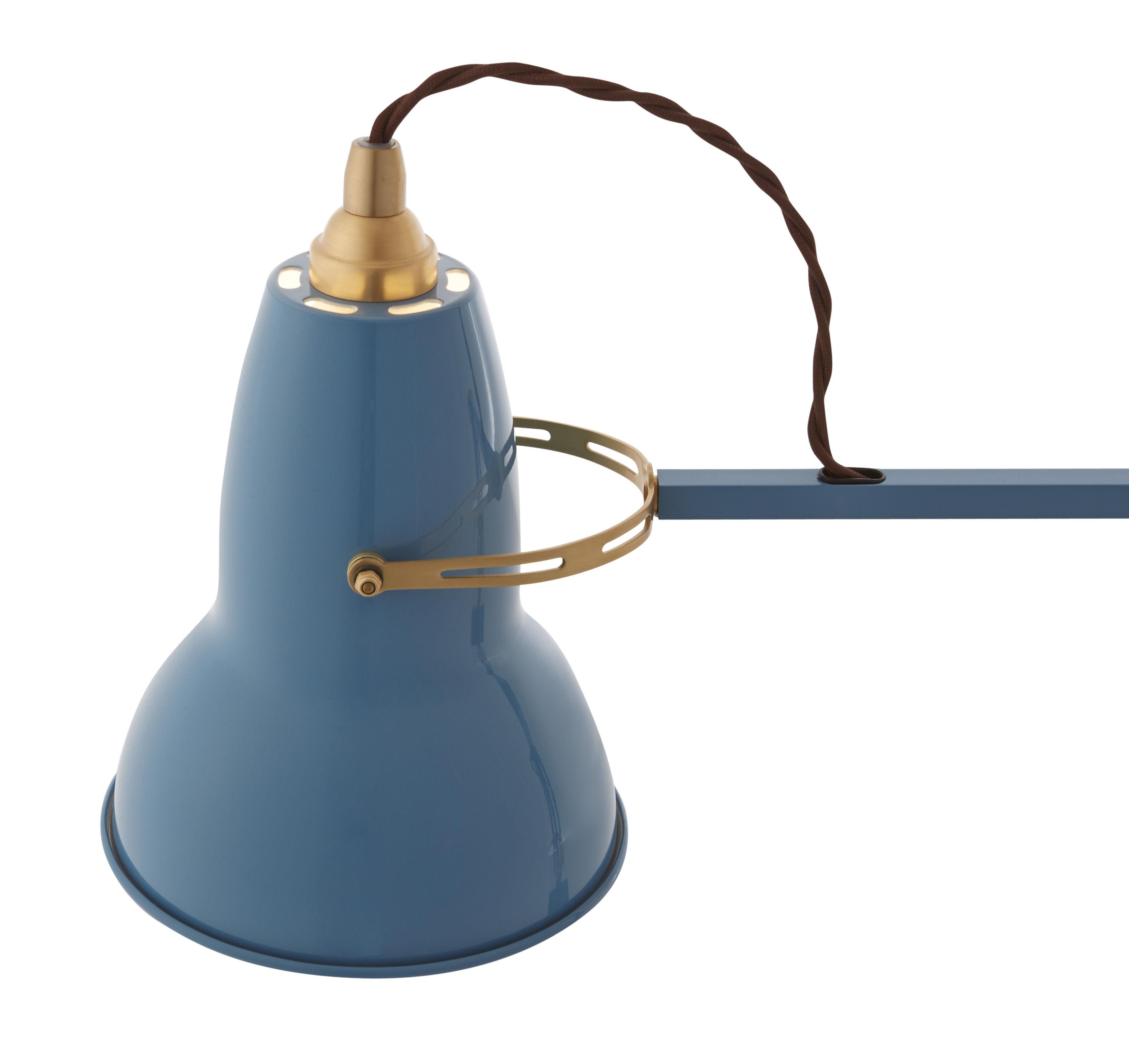 applique original 1227 laiton bras articul bleu. Black Bedroom Furniture Sets. Home Design Ideas
