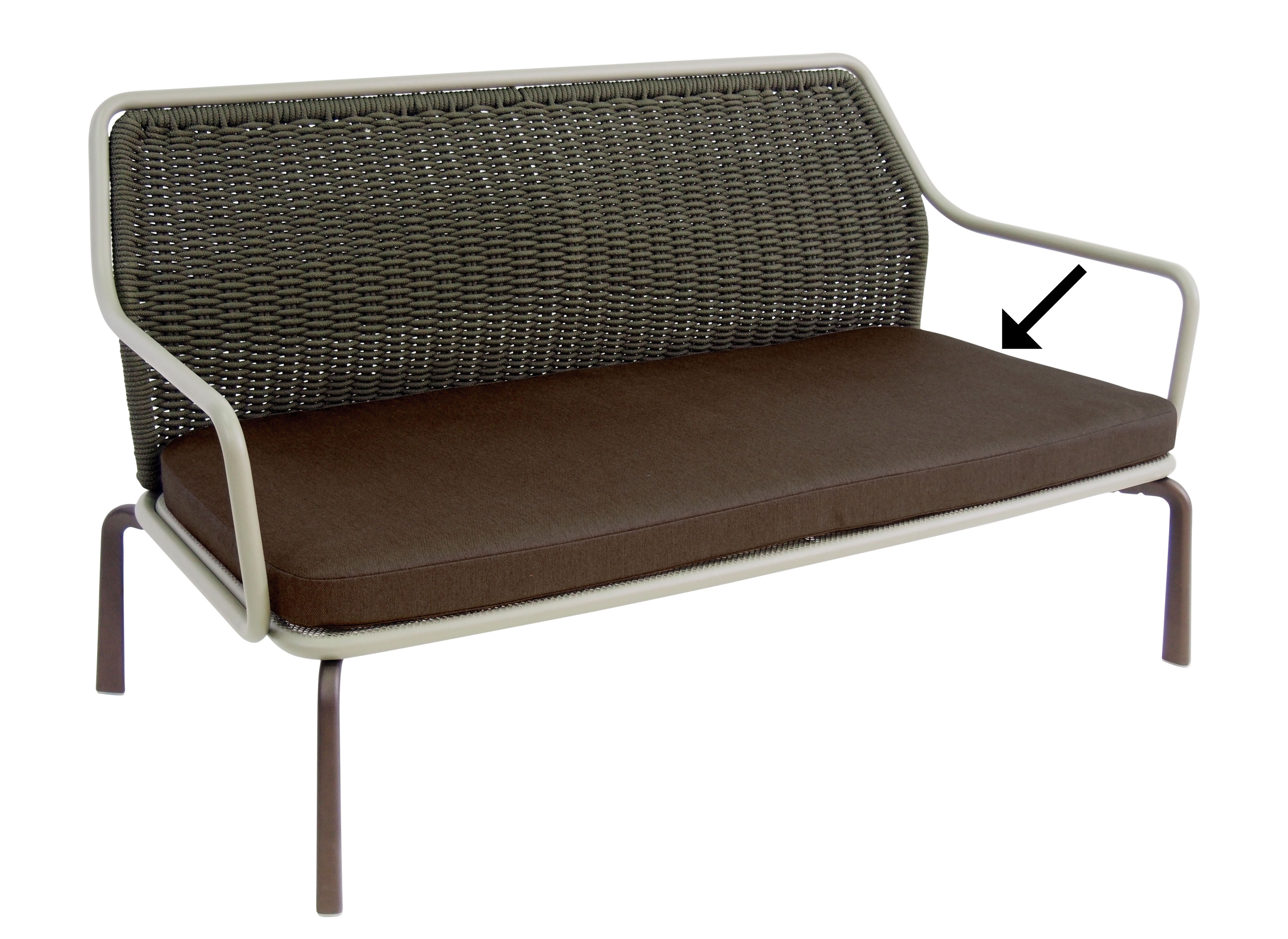 Seat cushion - / for Cross bench India brown by Emu | Made In Design UK