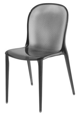 Chaise empilable Thalya Polycarbonate Kartell fumé en matière plastique