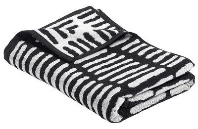 Drap de bain He She It / by Nathalie du Pasquier - 140 x 70 cm - Hay blanc,noir en tissu