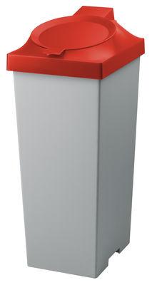 Poubelle Top / Pour tri sélectif - 20 Litres - Authentics rouge en matière plastique