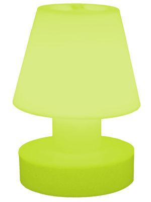 Image of Lampada senza fili - portatile senza fili ricaricabile - H 28 cm di Bloom! - Verde - Materiale plastico