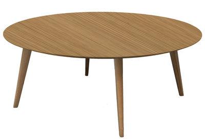 Lalinde Ronde Couchtisch rund - XXL Ø 95 cm / Tischbeine aus Holz - Sentou Edition - Eiche